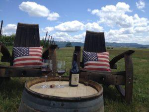 Chairs w flag pillows 2013