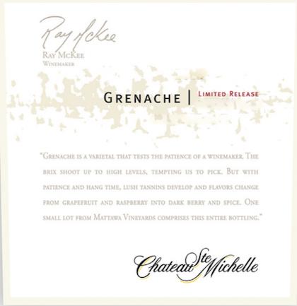 Chateau Ste. Michelle Limited Release Grenache