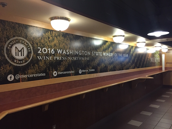 Mercer Estates opened the Mercer Wine Bar at KeyArena this spring, entering a two-year agreement that ends Dec. 31, 2017.