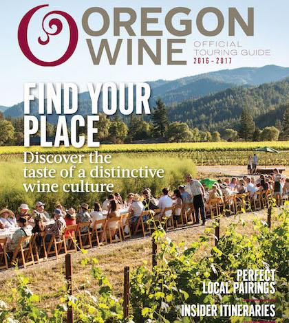 Oregon Wine Touring Guide 2016 cover