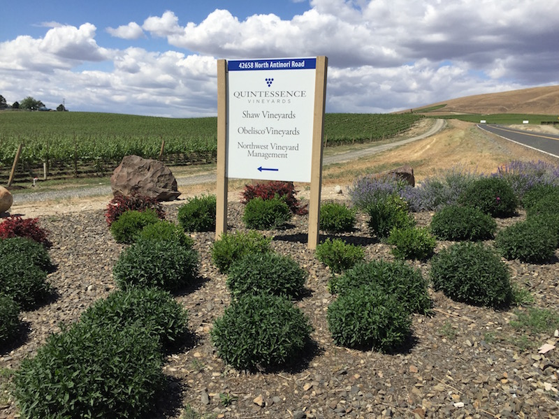 Quintessence Vineyards dominates the eastern edge of Red Mountain American Viticultural Area and works with a growing number of award-winning Washington state winemakers.