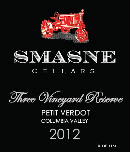 smasne-cellars-three-vineyard-reserve-petit-verdot-2012-label