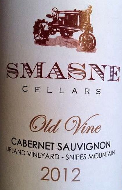 smasne-cellars-upland-vineyard-old-vine-cabernet-sauvignon-2012-label