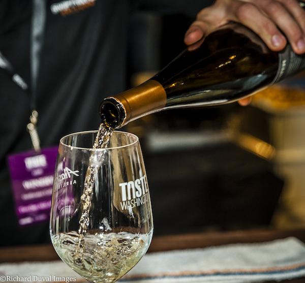 USA, Washington, Seattle. Taste Washington wine and food event.