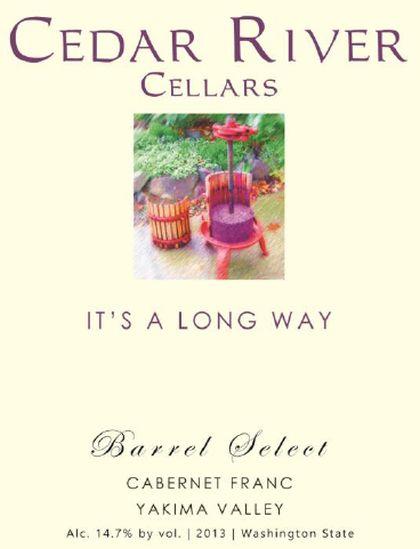 cedar-river-cellars-its-a-long-way-barrel-select-cabernet-franc-2013-label