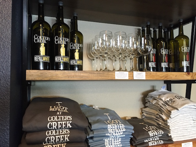 The refillable bottle program has been a successful feature for Colter's Creek Winery in Juliaetta, Idaho, and some of Melissa Sanborn's wines are only available through by tap.