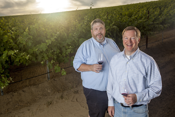 Andy Perdue, left, and Eric Degerman own and operate Great Northwest Wine, an award-winning news and information company. (Photo courtesy of Kai-Huei Yau)