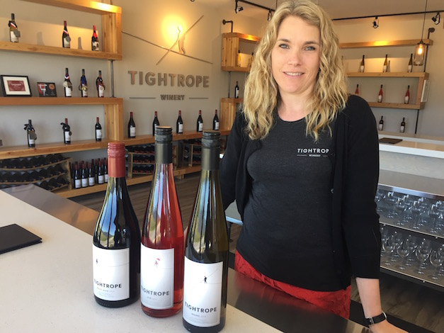 Tightrope Winery co-owner Lyndsay O'Rourke earned science degrees at University of British Columbia and Lincoln University in New Zealand before becoming a winemaker on the Okanagan Valley's Naramata Bench.