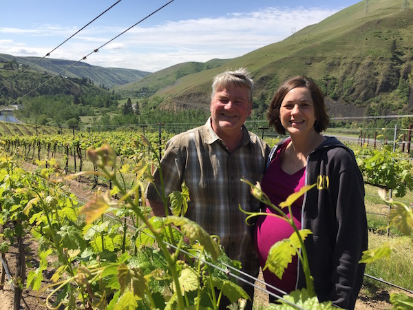 Mike Pearson grows the grapes for his winemaking wife Melissa Sanborn at Colter's Creek Vineyards and Winery in Juliaetta, Idaho.