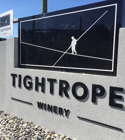 Tightrope Winery is along Fleet Road on the Naramata Bench, which overlooks Okanagan Lake and is just northeast of Penticton, British Columbia. (Photo by Eric Degerman/Great Northwest Wine)