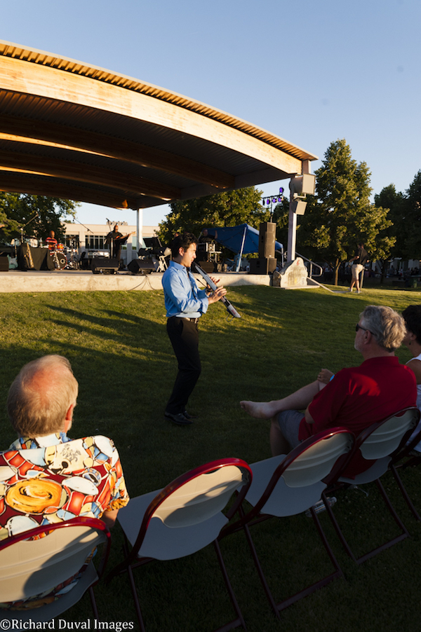 Seattle saxophonist Jeff Kashiwa was the headliner for the second annual Washington State University Wine and Jazz Festival on Saturday, June 25, at the WSU Tri-Cities campus in Richland. (Photo by Richard Duval)