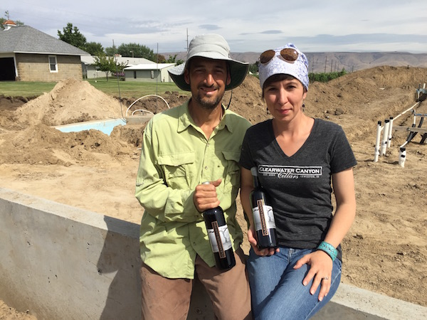 Karl and Coco Umiker are building a 5,000-square-foot estate winery for Clearwater Canyon Cellars on Coco's family farm in Lewiston, Idaho. (Photo by Eric Degerman/Great Northwest Wine)