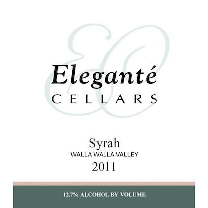 elegante-cellars-syrah-2011-label