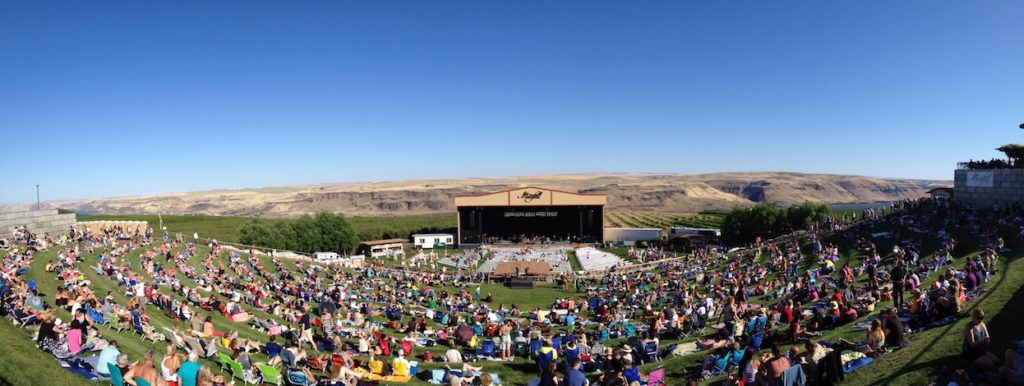 Maryhill Winery's 4,000-seat concert amphitheater overlooks the Columbia River.