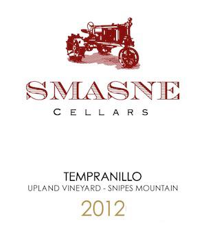smasne cellars upland vineyard tempranillo 2012 label - Smasne Cellars 2012 Upland Vineyard Tempranillo, Snipes Mountain, $36