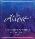 Aluve Winery 2012 Cabernet Sauvignon label
