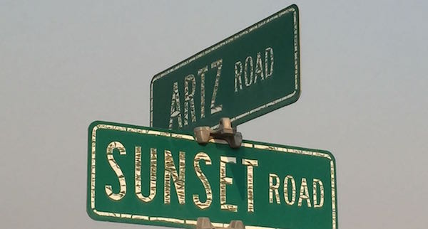 Artz Vineyard sign