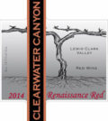 Clearwater Canyon Cellars 2014 Renaissance Red label