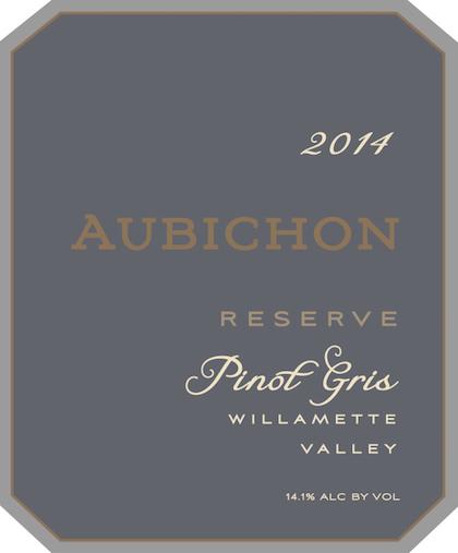 Aubichon Cellars 2014 Reserve Pinot Gris