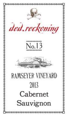 ded-reckoning-no-13-ramseyer-vineyard-cabernet-sauvignon-2013-label