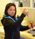 Fiona Mak, a recent graduate of Walla Walla Community College's enology and viticulture program, is now an enologist at Artifex in Walla Walla.