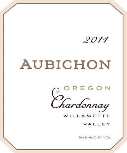 Aubichon Cellars 2014 Chardonnay label