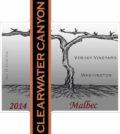 Clearwater Canyon Cellars 2014 Verhey Vineyard Malbec label