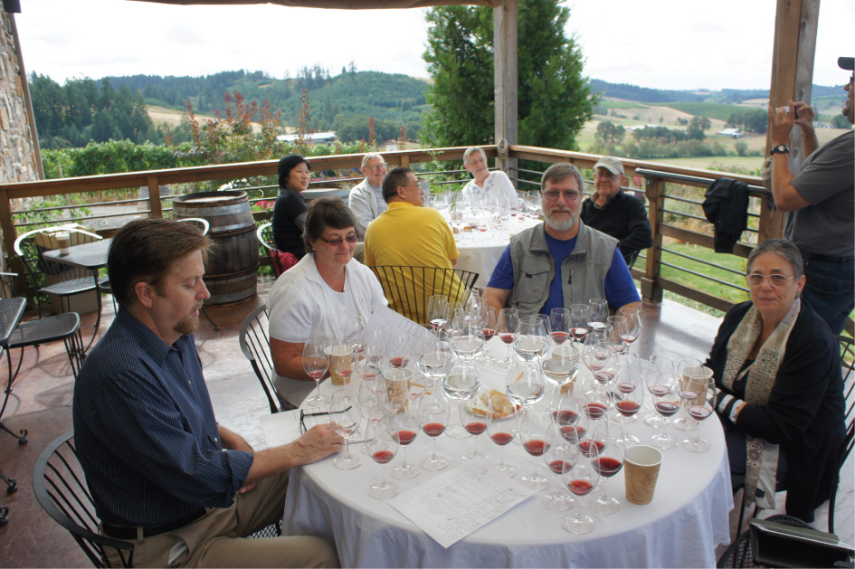 Lenne Estate blind tasting class photo