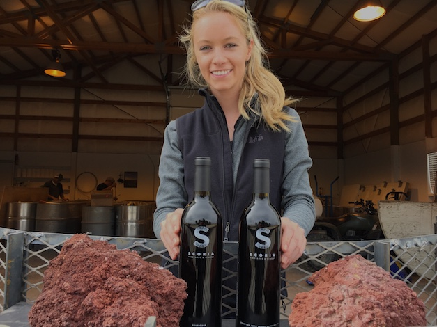 Sydney Nederend recently opened her tasting room for Scoria Vineyards and Winery with small-lot bottlings of Mourvédre and a Syrah-based blend from the 2013 vintage. (Photo by Eric Degerman/Great Northwest Wine)
