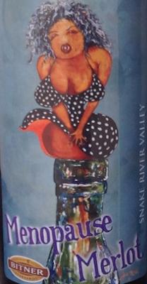 Bitner Vineyards 2012 Menopause Merlot label