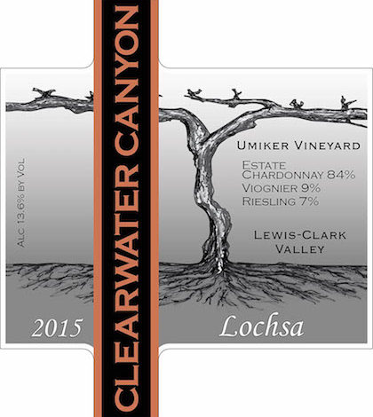 Clearwater Canyon Cellars 2015 Lochsa White Wine label