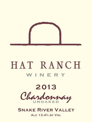hat-ranch-winery-unoaked-chardonnay-2013-label