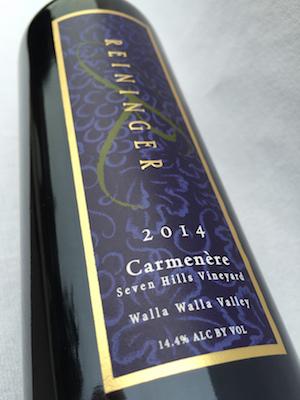 reininger-winery-seven-hills-vineyard-carmenere-2014-bottle