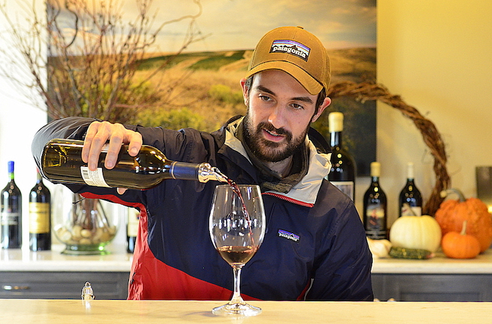Sager Small, 29, is a student in Walla Walla Community College's viticulture and enology program.