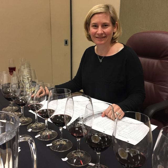 Sheri Morano, a Master of Wine from Chapel Hill, N.C., judges the 2016 Tri-Cities Wine Festival at the Three Rivers Convention Center in Kennewick, Wash.