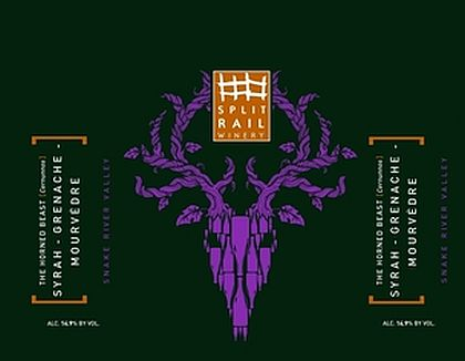 split-rail-winery-the-horned-beast-cernunnos-syrah-grenache-mourvedre-nv-label
