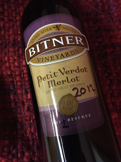bitner vineyards petit verdot merlot bottle - Idaho wine industry coming into its own