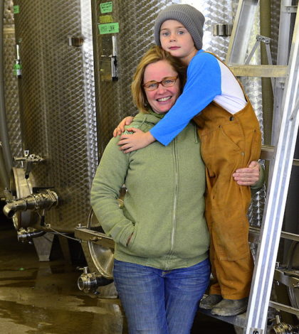 Heidi Noble oversees 82 acres of vineyards, makes 17,000 cases of wine, manages a staff of 12 and is building a new tasting room. There's also her son Theo, age 6.
