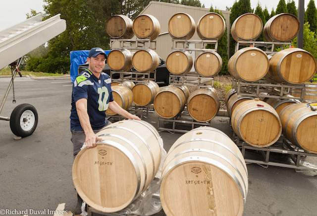 marcus rafanelli college cellars barrel delivery richard duval images - Marcus Rafanelli returns to College Cellars as instructor