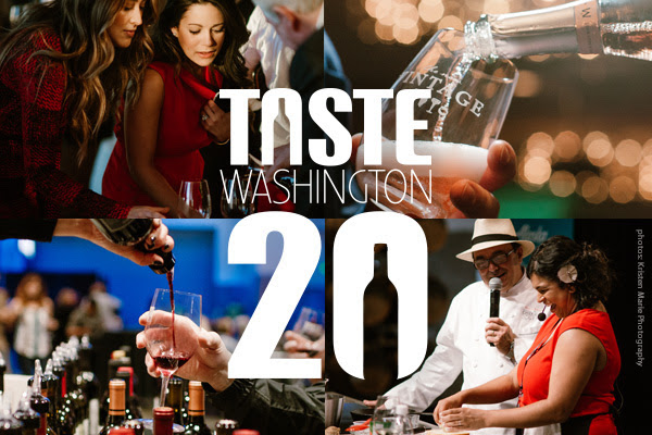 Taste Washington, a collaboration between the Washington State Wine Commission and Visit Seattle, will celebrate its 20th anniversary March 23-26, 2017.