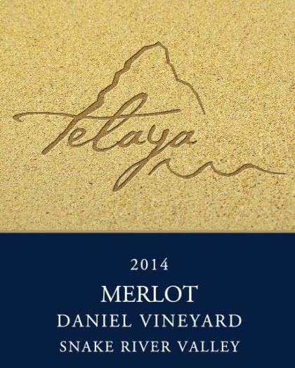 telaya wine co daniel vineyard merlot 2014 label - Idaho wine industry coming into its own