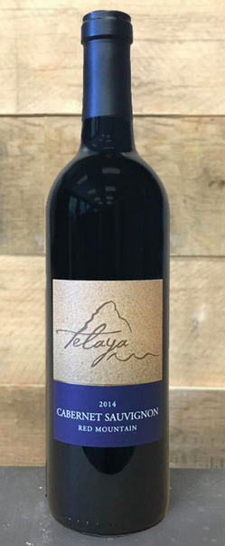 telaya wine company cabernet sauvignon red mountain 2014 bottle - Telaya Wine Co. 2014 Cabernet Sauvignon, Red Mountain, $40