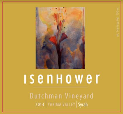 Isenhower cellars dutchman vineyard syrah 2014 label - Washington Syrah continues to grow in popularity