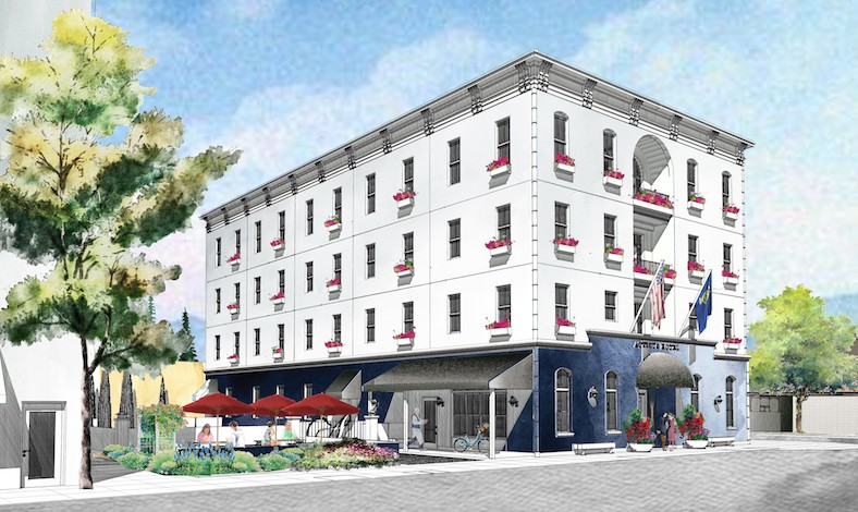 Mcminnville group set to build 4 story atticus hotel for for Cost to build a hotel