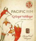 pacific rim winemakers spring creek vineyard gruner veltliner 2015 label 120x134 - Pacific Rim Winemakers 2015 Spring Creek Vineyard Grüner Veltliner, Yakima Valley, $15