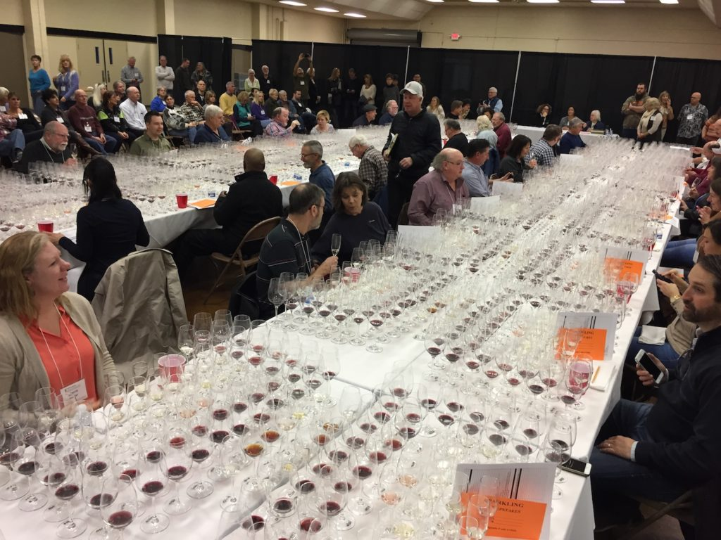 Judges prepare for the sweepstakes portion of the 2017 San Francisco Chronicle Wine Competition on Jan. 13 in Cloverdale, Calif.