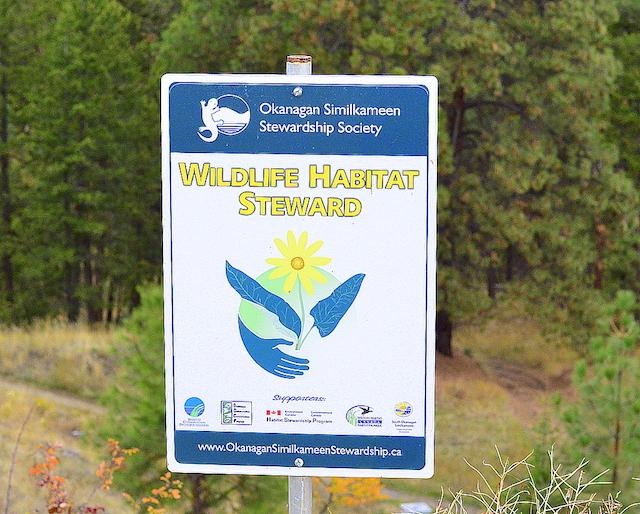 tantaus vineyards wildlife habitat steward sign - Paterson takes Tantalus Vineyards to another level