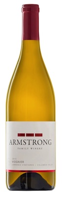 armstrong family winery lawrence vieyards viognier 2015 bottle - Viognier gaining foothold in Pacific Northwest