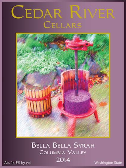 cedar river cellars bella bella syrah 2014 label - Syrah flourishes as Washington wine industry's secret weapon