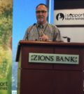 Greg Jones, a professor at Southern Oregon University and one of the wine world's top climate experts, presents his annual report Feb. 14, 2017 at the Idaho Wine Commission annual meeting in Boise.